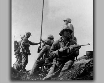 24x36 Poster; Iwo Jima First Flag
