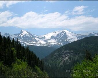 24x36 Poster; Rocky Mountains Near Boulder Colorado