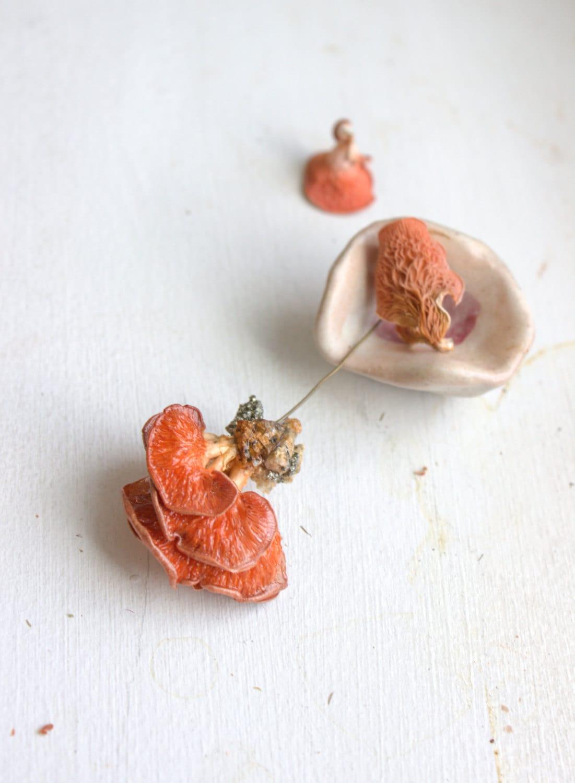 Pink Oyster Mushroom Pendant