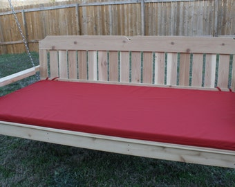 Brand New 6+ Foot Victorian Swing Bed with 2 inch thick Seat Cushion with Hanging Rope - Free Shipping