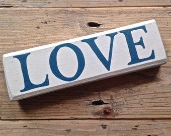 Wooden Love Block Sign