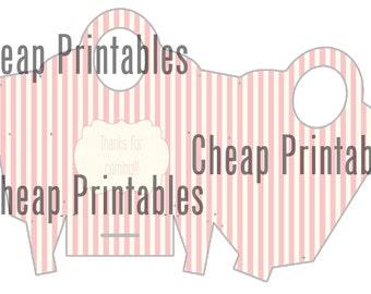 Printable Bag favor/treat box for birthday party pdf printable Souvenier