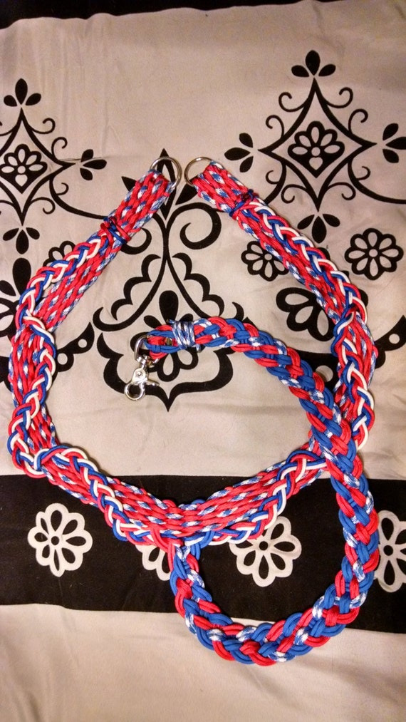 Horse Tack: Paracord Breast Collar Basket Weave Standard Horse Size made #550 paracord, adjustable tug straps, trigger snap,D'Ring