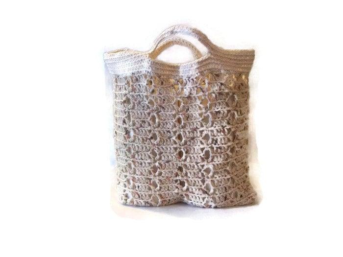Crochet Summer Bag : Crochet tote Summer beach bag by CreativeManiacs on Etsy