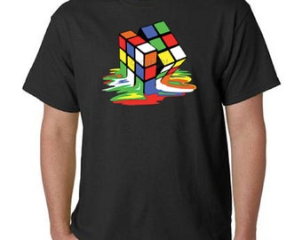 Melting Rubik's Cube T-Shirt:As Seen On The Big Bang Theory All Sizes & Colors (8015)