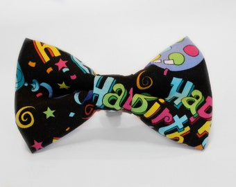 Happy Birthday Bow Tie | Bow Tie for Boys | Bow Tie for Dog | Bow Tie for Men | Gift for Him | Pet Lover | Men Bow Tie | Boys Bow Tie