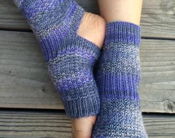 Hand Knit Yoga Socks (Lavender Topaz)