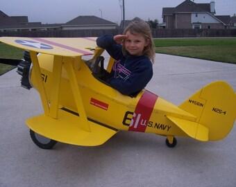 Stearman PT-17 N2S Pedal Plane Airplane complete kit