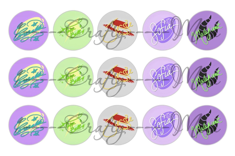 60 disney princess signature autograph icon symbol bottle cap this is a digital file buycottarizona