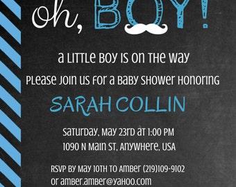Babyshower Invitation/ Boy/pdf/download/customized