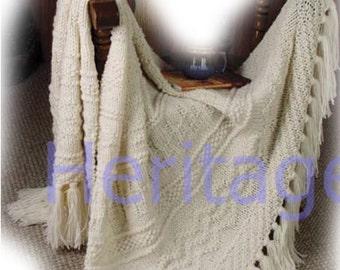 blanket / throw dk knitting pattern 99p