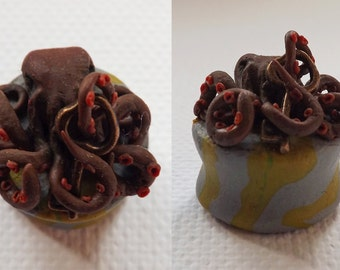 Hand made polymer clay octopus plug