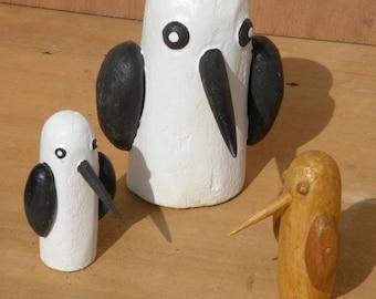 Animal wooden sculptures