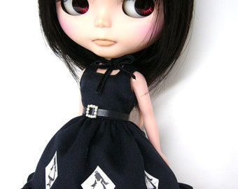 """Dress patterns and instructions of  'sleeveless Dress"""" (for Blythe)"""