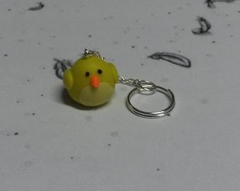 Kawaii Chubby Chick Key Ring
