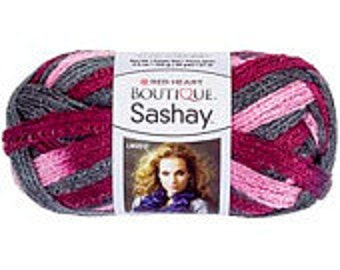 Yarn - Red Heart Boutique Sashay - Red, Blue or Boogie