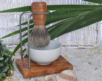 Set of holder for shaving brush DESIGN and shaving brush