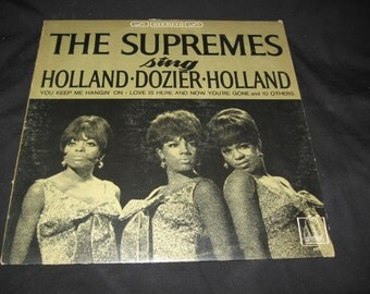 1966 The Supremes Sing Holland-Dozier-Holland/The Motown Song/Motown 650 Vinyl Record The Supremes/Keep Me Hanging On It's The Same Old Song