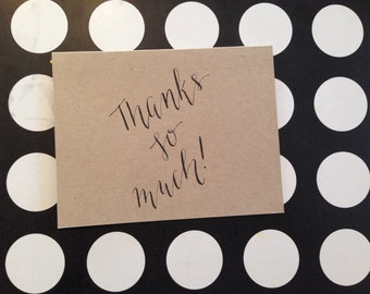 Thanks So Much-Card & Envelope