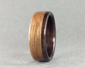 Ebony and Walnut Bentwood ring