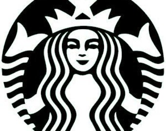 Starbuck's Vinyl Decal FREE SHIPPING (many colors available)