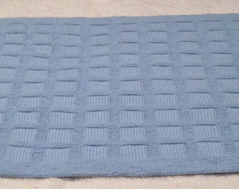 Knit Block Baby Blanket - Temporarily Reduced Price