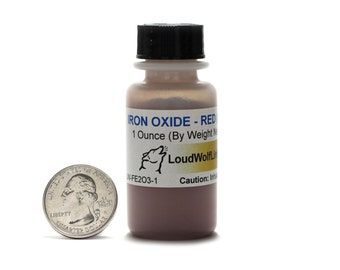 Red Iron Oxide / 1 Ounce / 75 Micron Powder / 99.7% Pure / Same Day Shipping