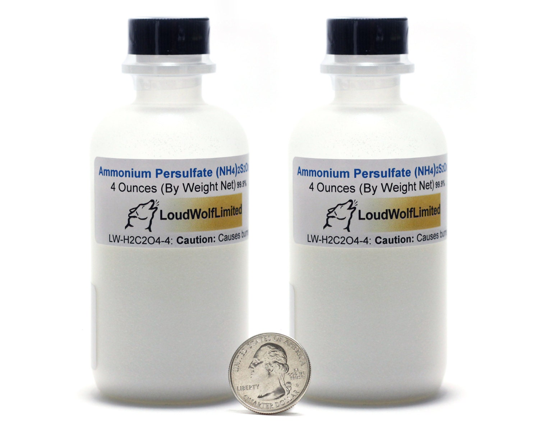 Ammonium Persulfate / 8 Ounces / Dry Crystals / 99% Pure