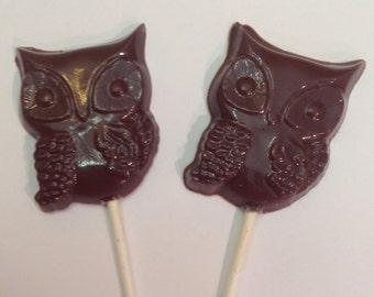12 Chocolate Owl pops
