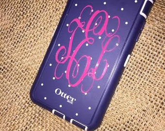 Monogramed Initials for Cellphone