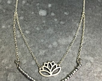 Layered Lotus Necklace