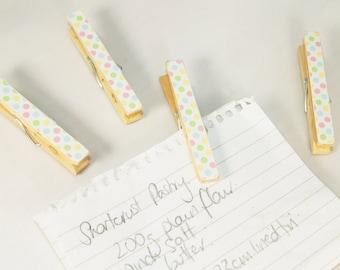Pastel Polka Dot Magnetic Note Holders