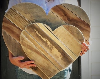 "14"" Tall - Rustic Wooden Heart, Valentines Heart,Country Heart, Rustic Heart,Wedding Heart,Reclaimed Wood Heart,Barn Style Wedding"