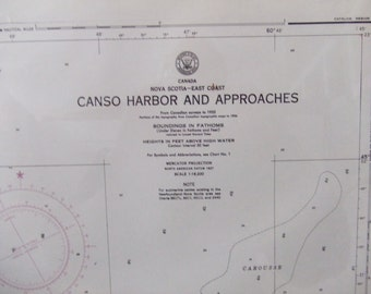 Nova Scotia - Canada - East Coast - Canso Harbor and Approaches - Nautical Chart