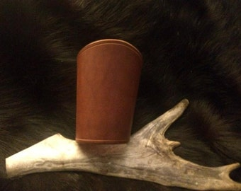 Leather cuff, light brown small