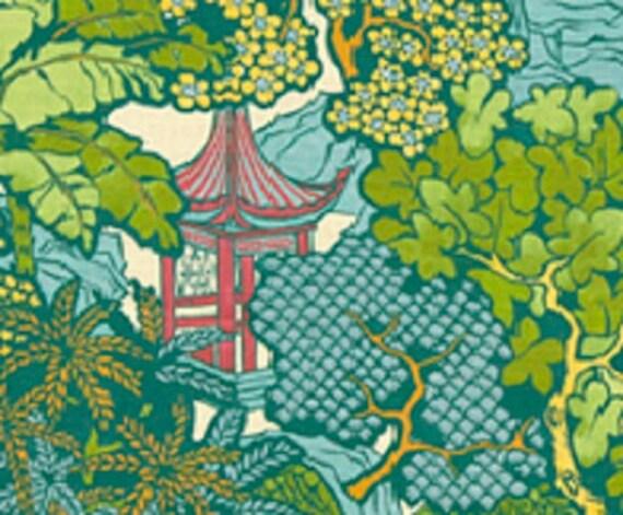 TWO YARDS Fabric By the Yard PAGODA by mockingbirdgallerync