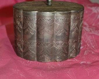 Vintage 70's Silver Plated Trinket Box