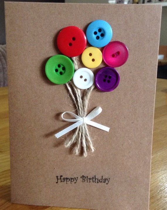 Items similar to Handmade Button Cards on Etsy