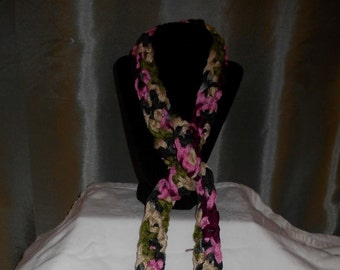 Long Skinny Scarf - Hand Crocheted