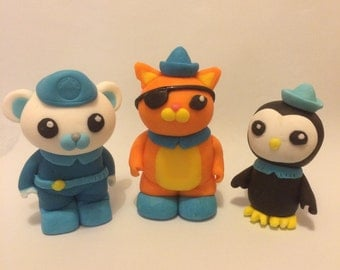 Octonauts sugar icing cake toppers ( 10 days for making)