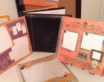 Halloween scrapbook 12 x 12 album