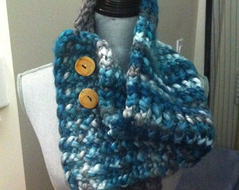 Chunky ombre scarf