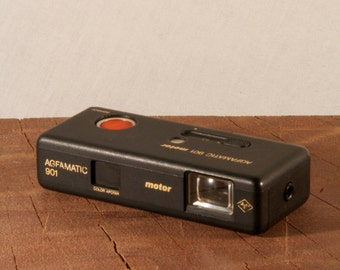 Vintage Agfamatic 901 motor camera, from the 80s