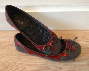 Zombie shoes Horror Bloody Flats Size 7