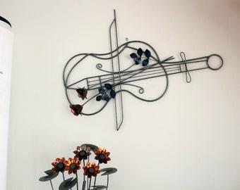 Violin (in metal wall sculptures)