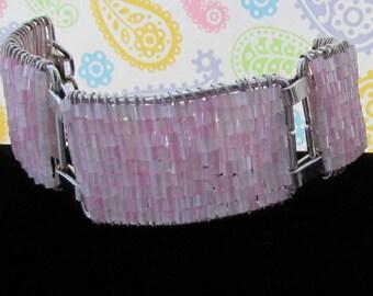 Jewelry,Bracelets,Seed Bead Jewelry,Seed Bead Bracelets,Pink Seed Bead Bracelet,Beaded Jewelry,Accessories,Silver Bracelets,Bangles,Beads