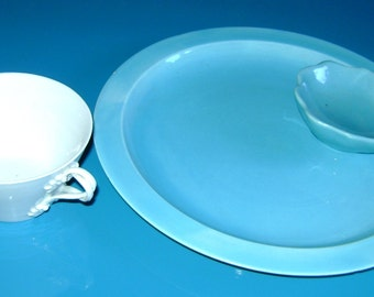 Cup and porcelain plate