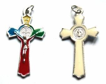 Enamel metal cross
