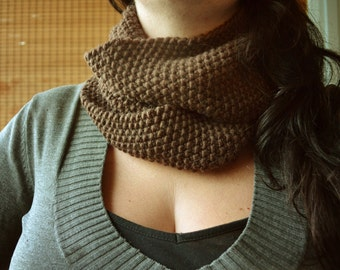 Choco-Cowl, Handmade in Chocolate Brown