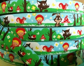 1m woven ribbon: little red riding hood